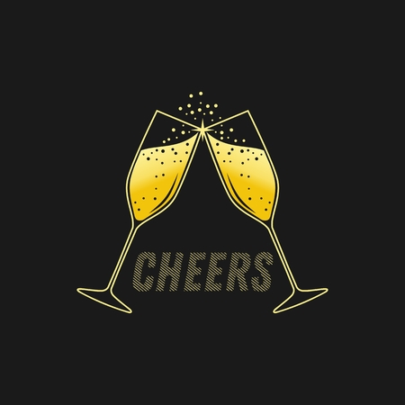 CHEERS vector illustration for your company or brand