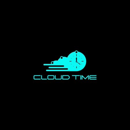 cloud time logo vector for your company or brand