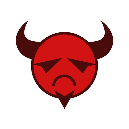 evil emoticon vector for your company or brand Ilustracja