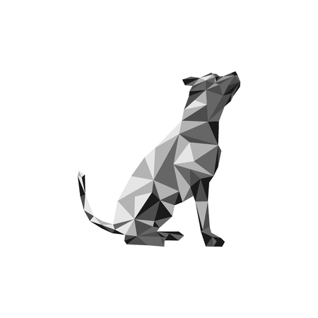 dog polygonal vector illustration for your company or brand
