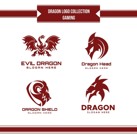 dragon logo collection vector for your company or brand