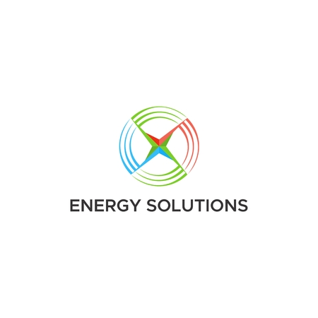 energy solutions logo vector Ilustrace