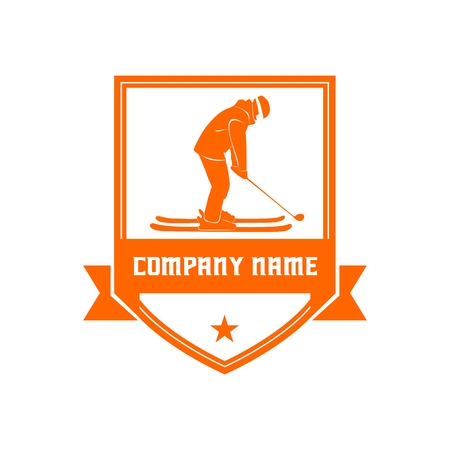 GOLF and SKI BADGE for your company or brand