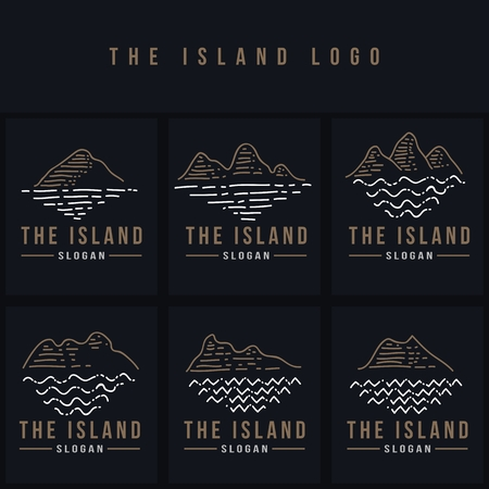 the island line logo vector illustration for your company or brand