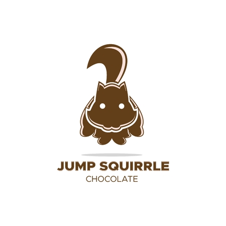 jump squirrel logo for your company or brand Vectores
