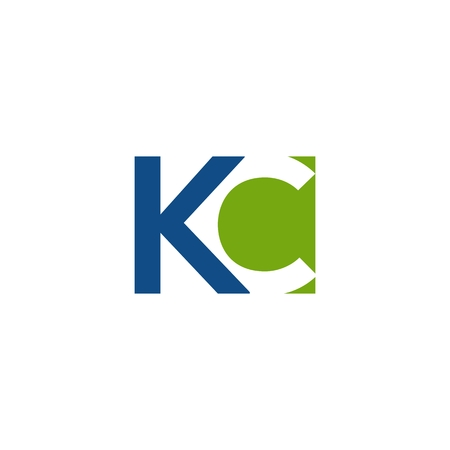KC logo vector simple for your company or brand