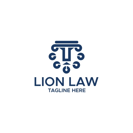 lion law abstract logo amazing design for your company or brand Illustration