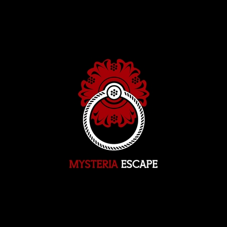 mysteria escape logo vector for your company or brand