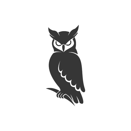 owl logo vector black for your company or brand