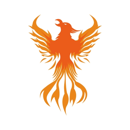phoenix fire logo vector for your company or brand