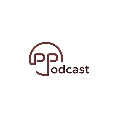 Podcast text logo vector for your company or brand