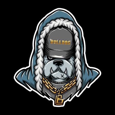 bulldog Rap vector illustration for your company or brand  イラスト・ベクター素材