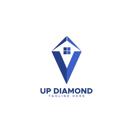Up House diamond logo vector Ilustracja