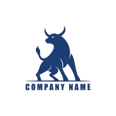 ox bull logo vector design