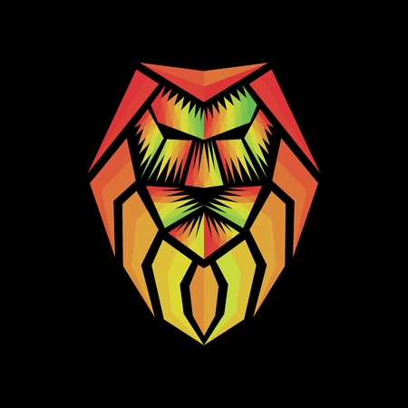 rasta lion abstract logo amazing design for your company or brand