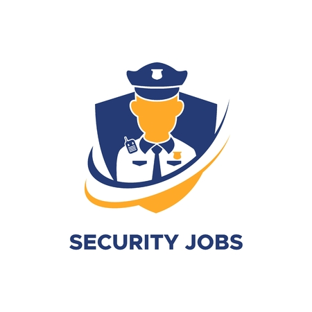 security guard jobs logo vector  for your company or brand Illustration