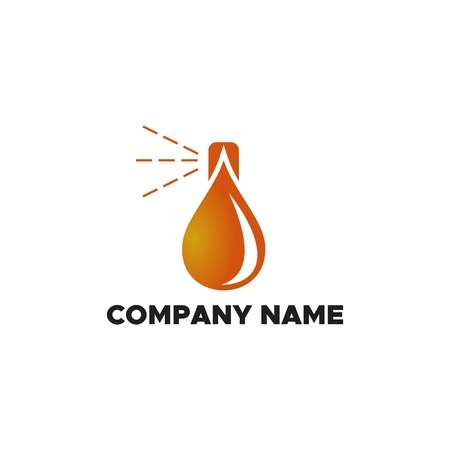 spray Oil logo vector illustration Ilustração