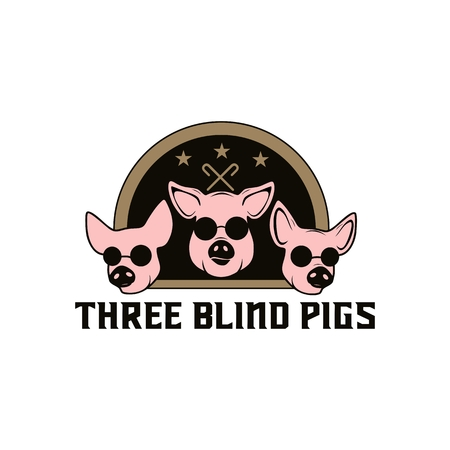 pig blind logo amazing design for your company or brand