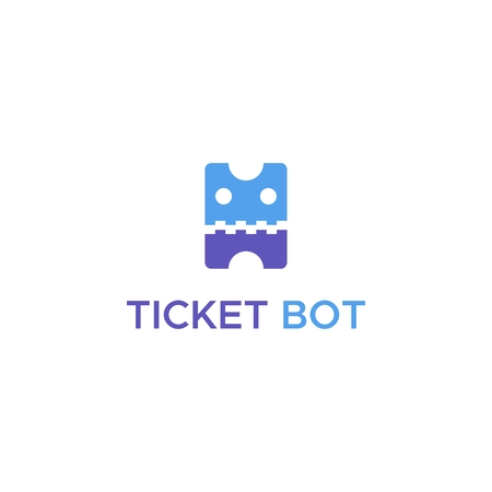 ticket bot logo vector for your company or brand