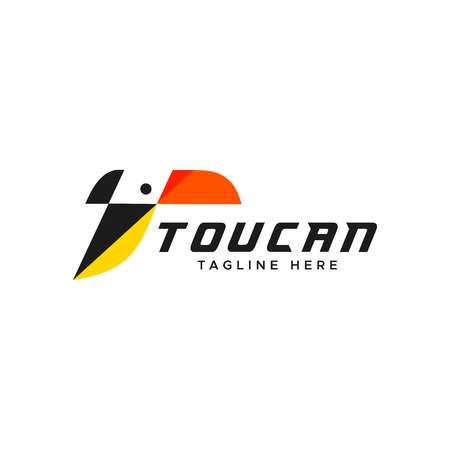toucan logo amazing design for your company or brand Illustration