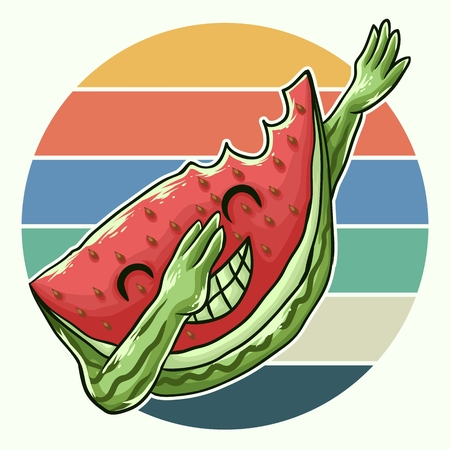 watermelon cool dabbing vector illustration Illustration