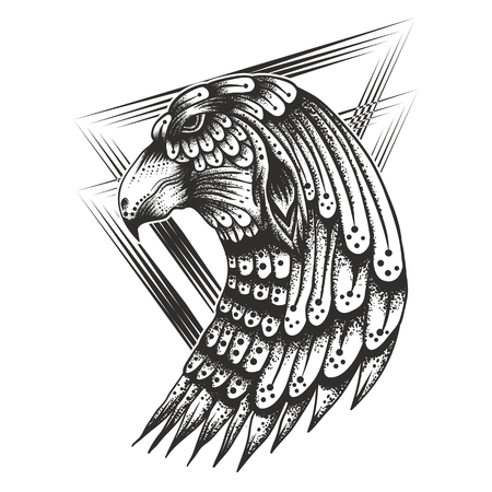 Eagle Head Vintage Vector illustration