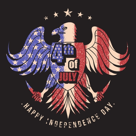 eagle usa flag 4th jully vector illustration Illustration