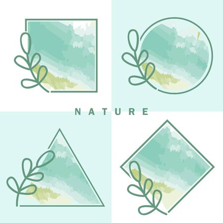 Nature organic frame vector collection for your company or brand Illustration