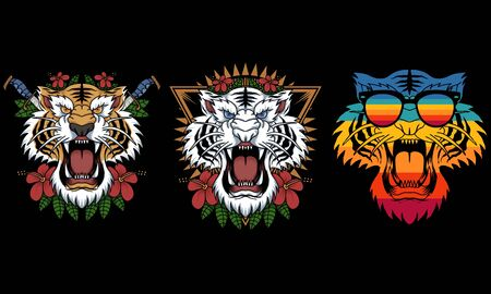 tiger decoration vector illustration for your company or brand