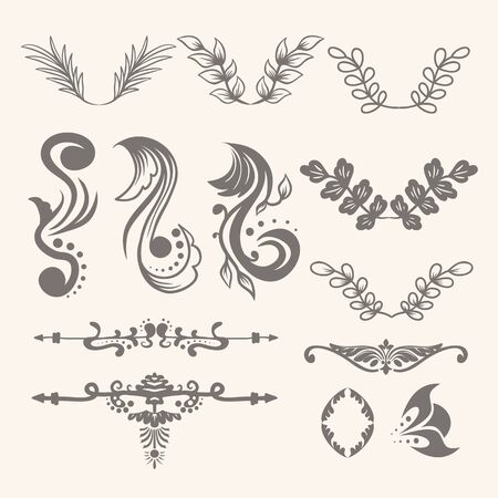 floral ornament collection Stock Vector - 129786494