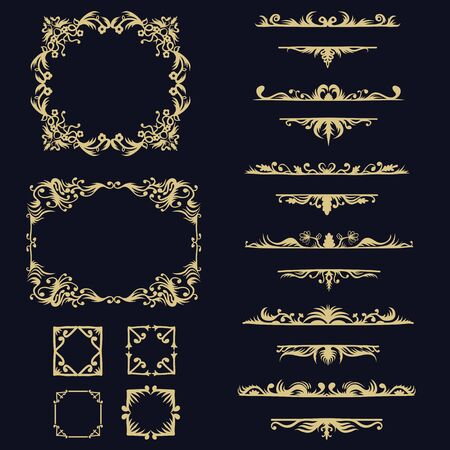 collection set ornament vector illustration