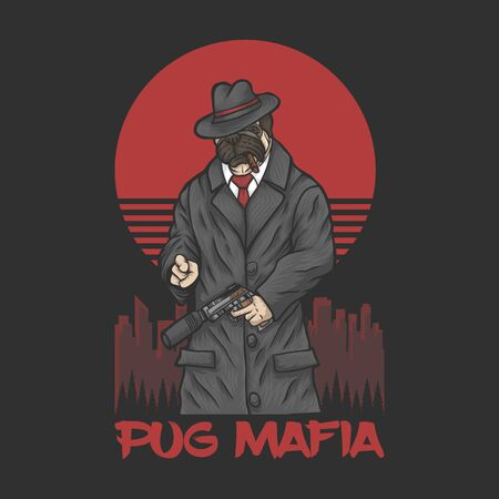 pug mafia vector illustration for your company or brand
