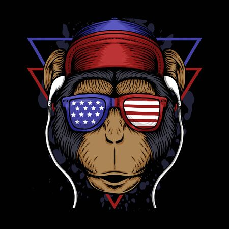 Monkey america vector illustration Vektorgrafik