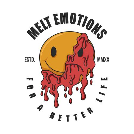 Melt emotions vector illustration for your company or brand
