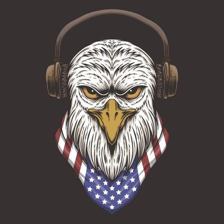 Eagle Head USA vector illustration