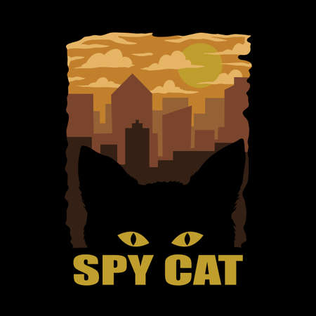 SPY CAT VECTOR ILLUSTRATION FOR YOUR COMPANY OR BRAND