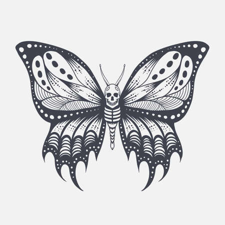 Skull butterfly vector illustration for your company or brand Illustration