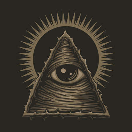 one eye illuminati vector illustration for your company or brand