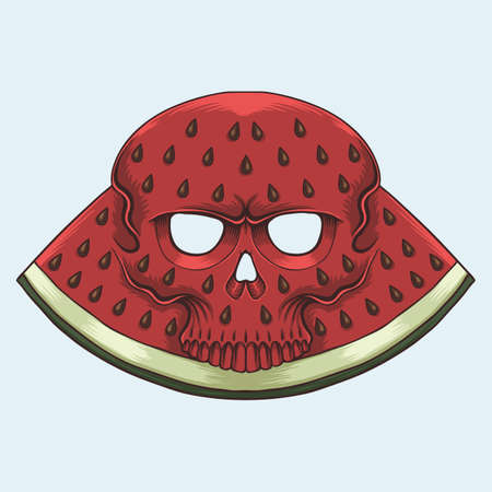 Skull Watermelon vector illustration for your company or brand