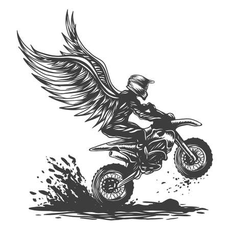 Motocross wing vector illustration for your company or brand