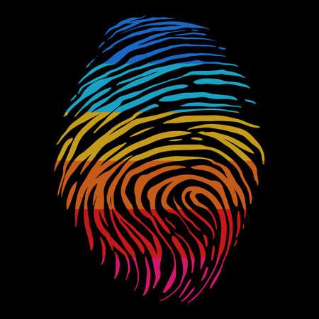 fingerprint retro color vector illustration for your company or brand 向量圖像