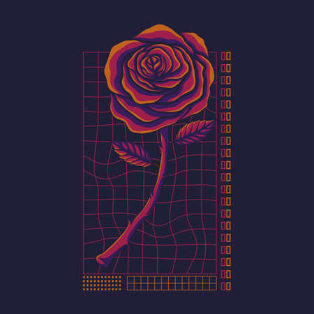 Rose streetwear vector illustration for your company or brand 向量圖像