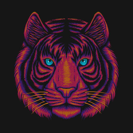 Tiger Head vector illustration for your company or brand