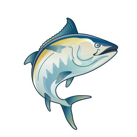 Thon Blackfin Vector Illustration saut de thon dessin thon rouge