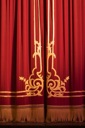 close of of theatre curtains Stock Photo - 6081954