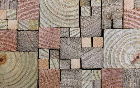 Stacked, End-cut Lumber Wood Grain