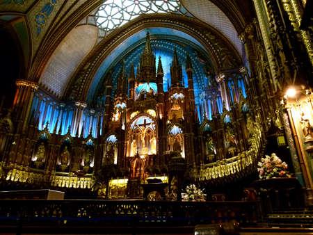 notre dame: Notre Dame Basilique - Montreal Stock Photo