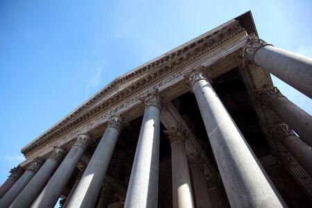 blu sky: Pantheon of Rome