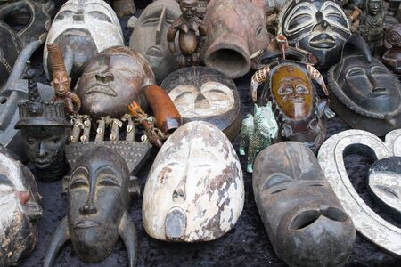 souvenir traditional: old african masks sale