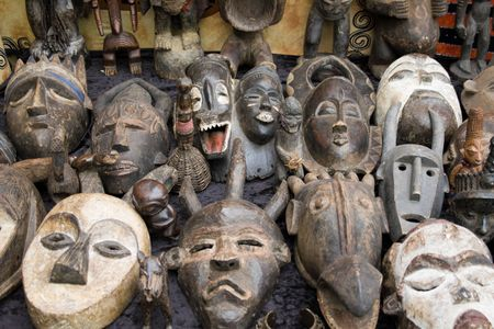old african masks sale photo